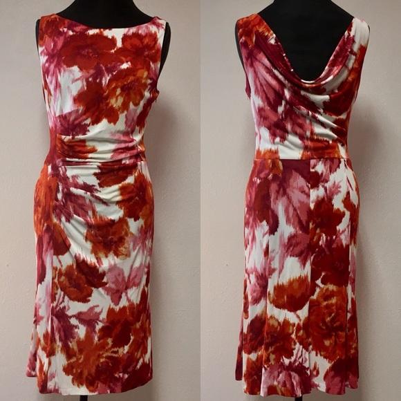 af4c22ae63bb Escada Dresses   Skirts - Escada Floral Midi Dress